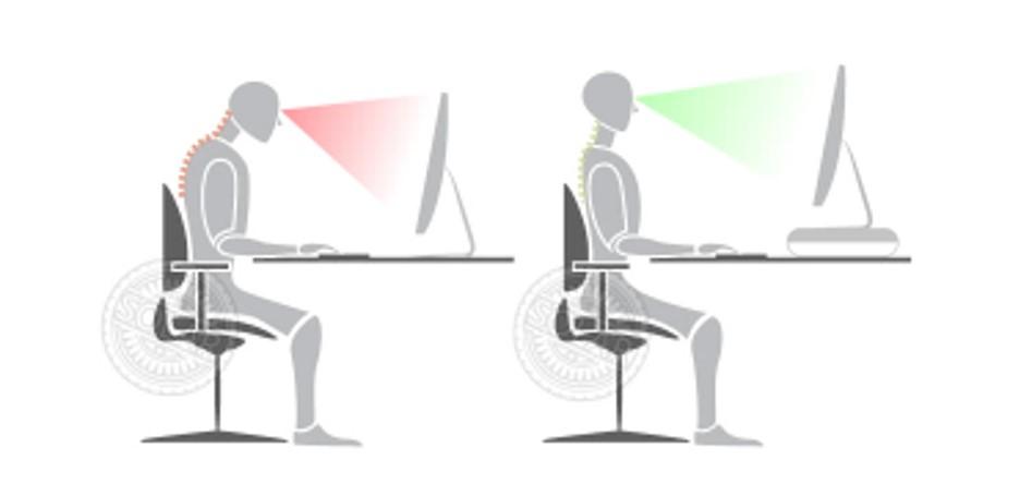 螢幕架讓螢幕高度更符合人體工學
