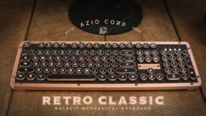 【鍵盤推薦】精細工藝,無線打字機鍵盤推薦,Azio retro classic